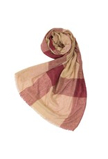 Large Check Scarf - Red