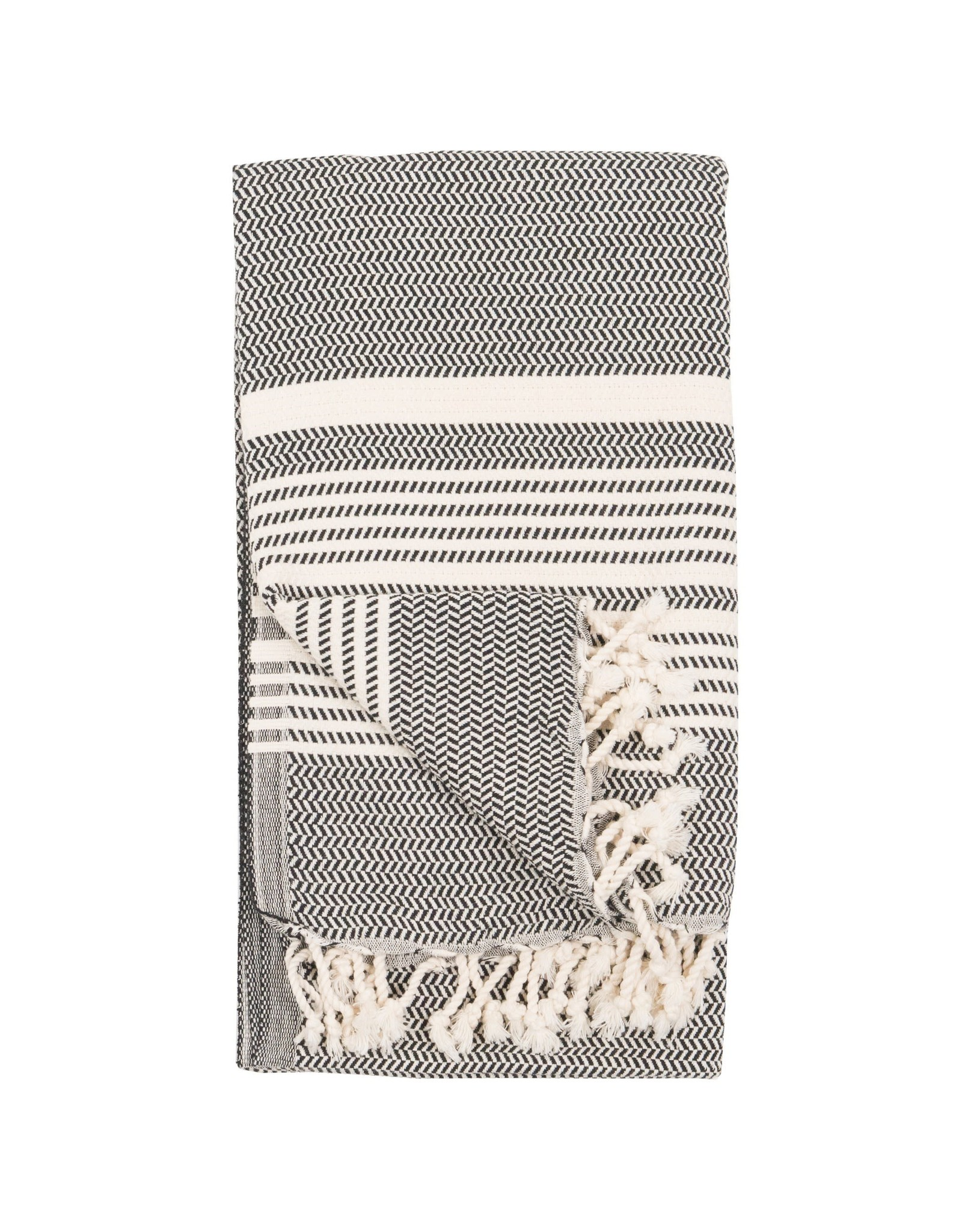 Turkish Bath Towel Hasir - Carbon
