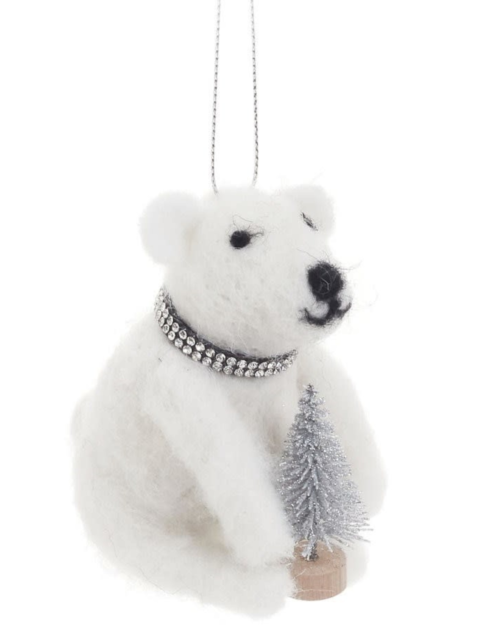 Wool White Bear With Tree