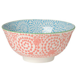 "6"" Stamped Bowl - Orange Swirls"