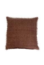 Lina Linen Cushion Chocolate 24x24