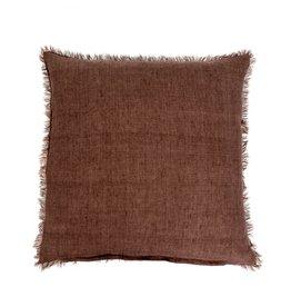 Lina Linen Chocolate - Cushion 24x24