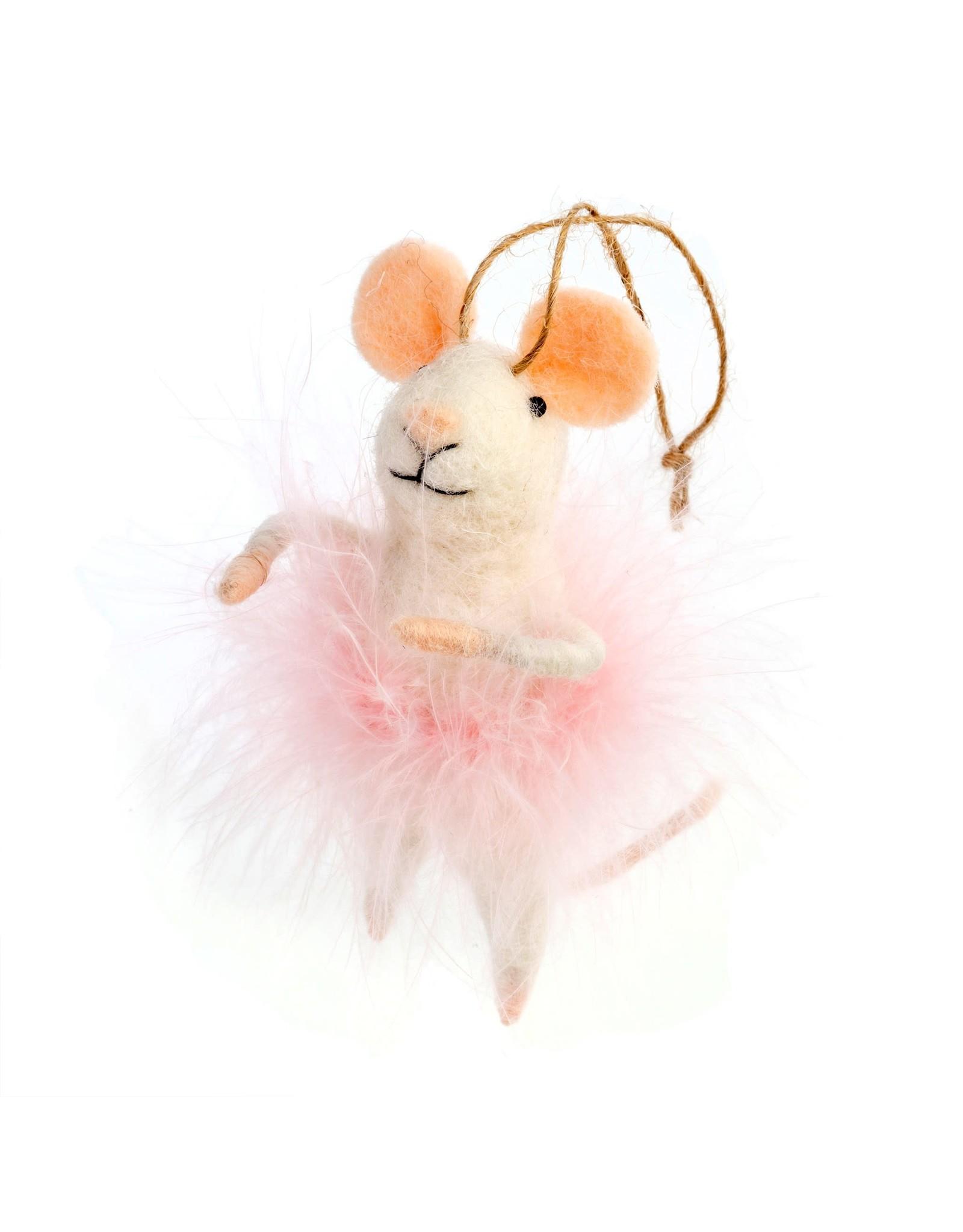 Cotton Candy Mouse Ornament