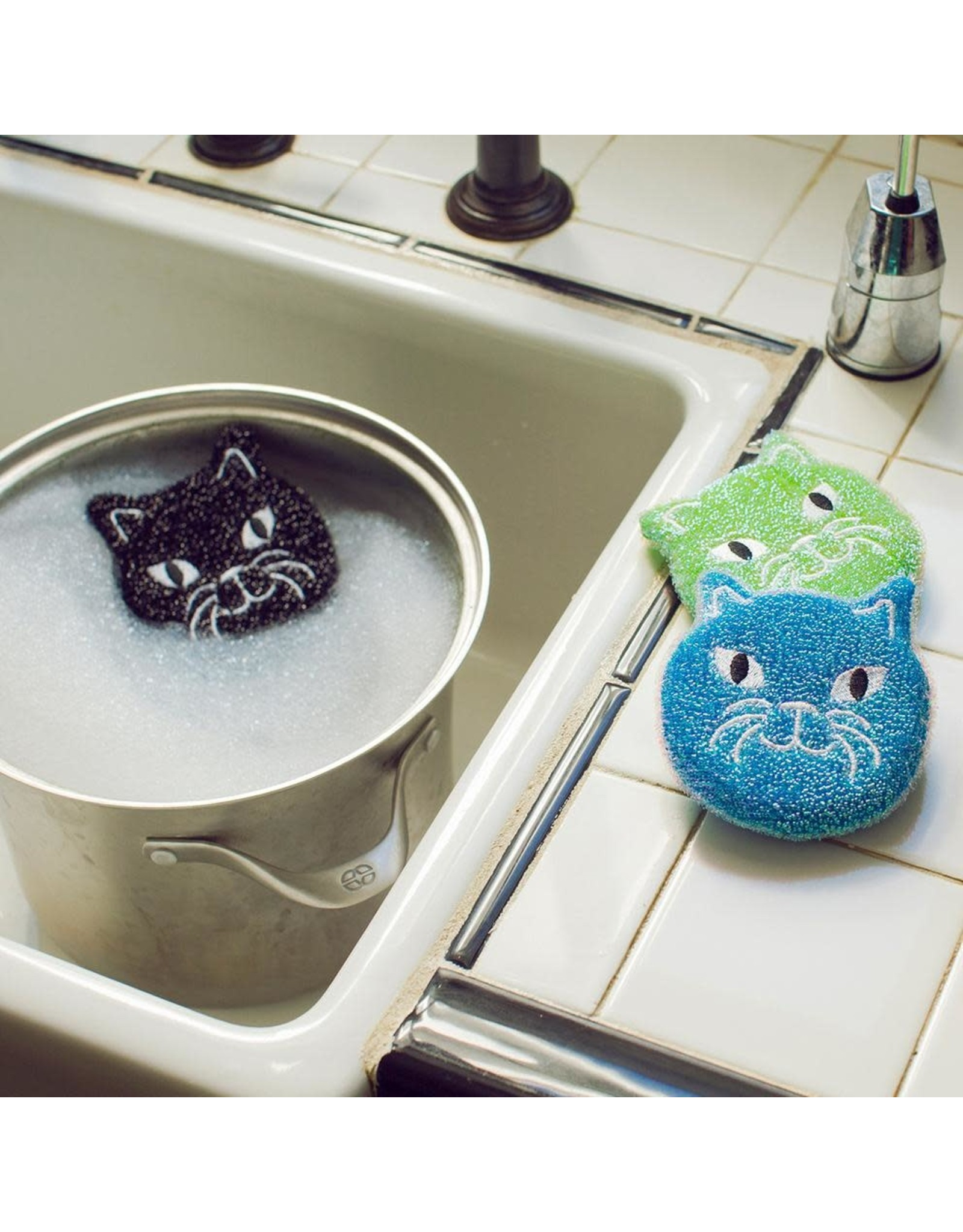 Kitty Scrub Sponges - Set of 3