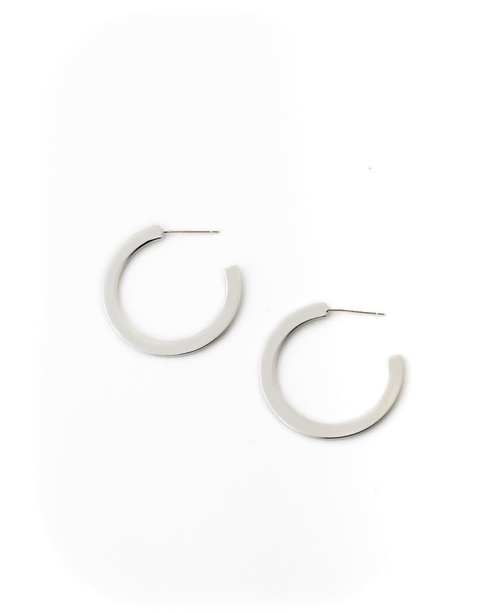 Lover's Tempo Gloria Lrg Hoop Earrings - Silver