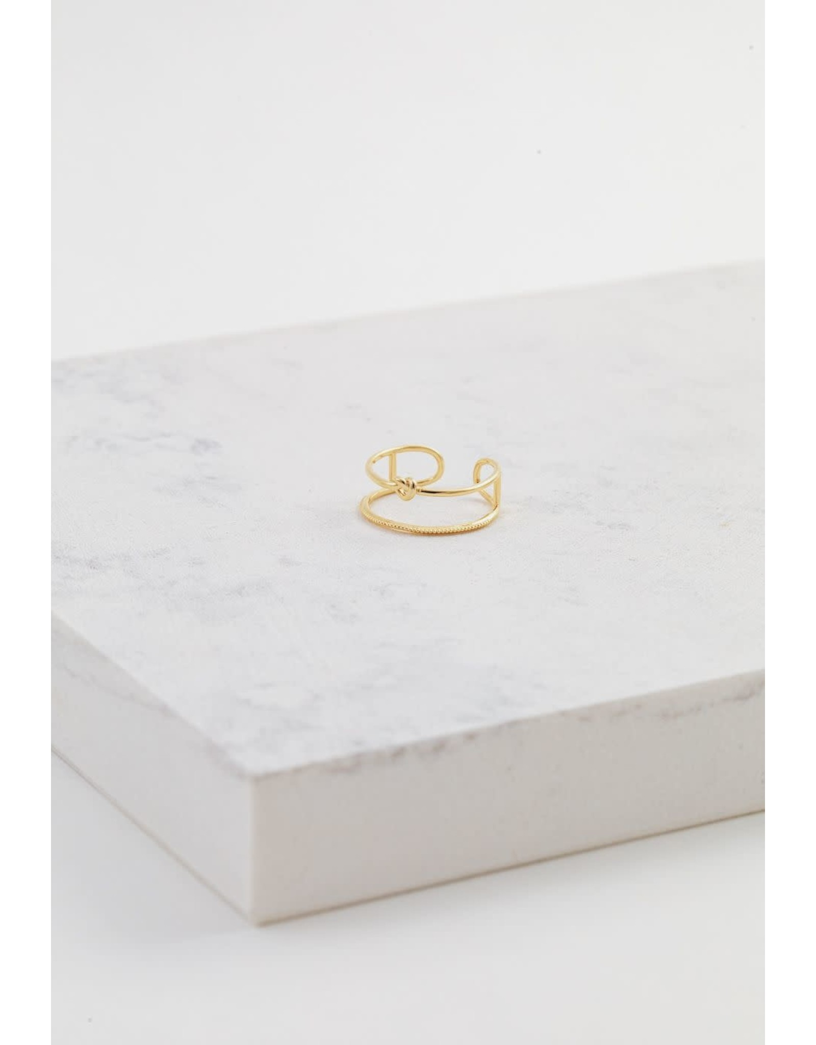 Lover's Tempo Knot Today Ring - Gold