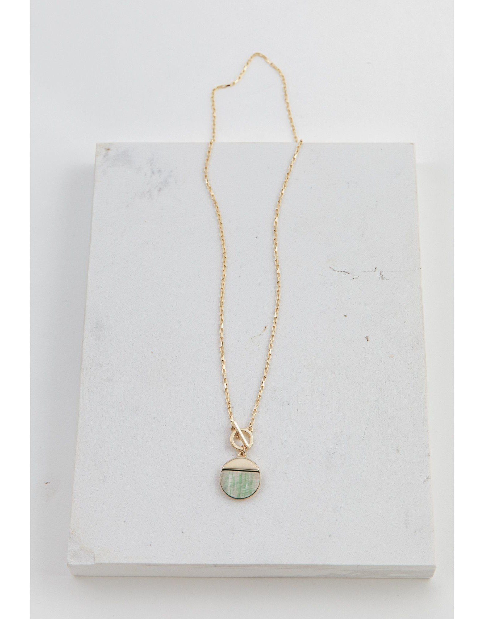 Lover's Tempo Oasis Toggle Necklace - Abalone