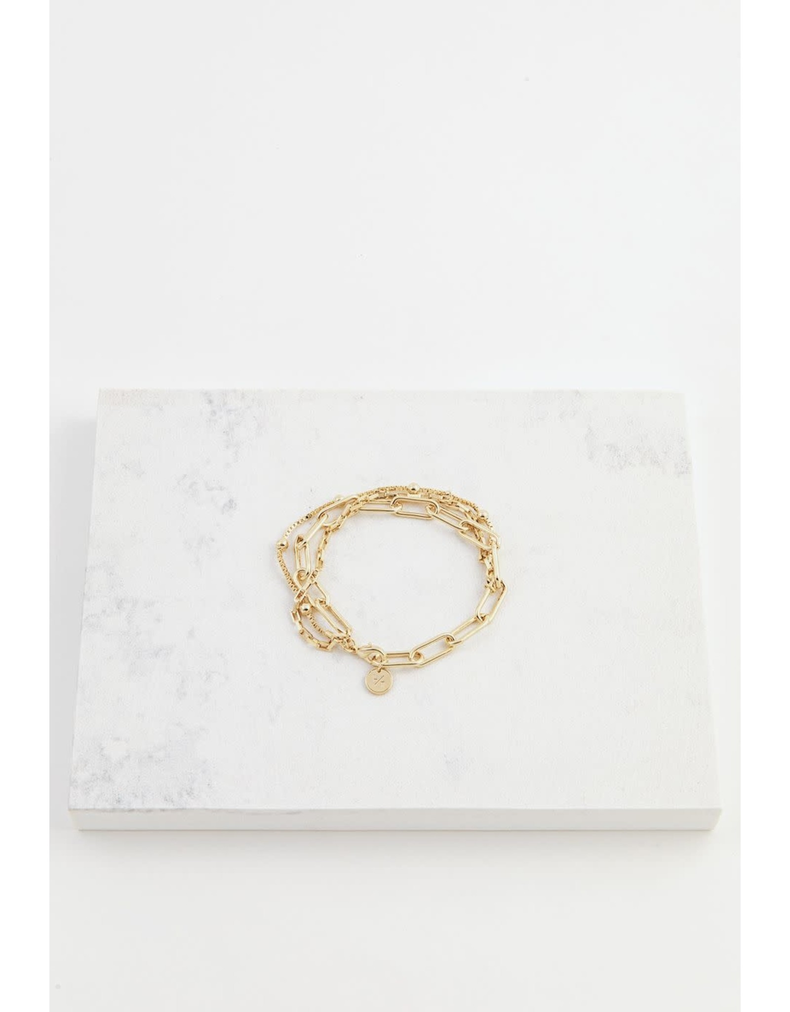 Lover's Tempo Shay Bracelet - Gold
