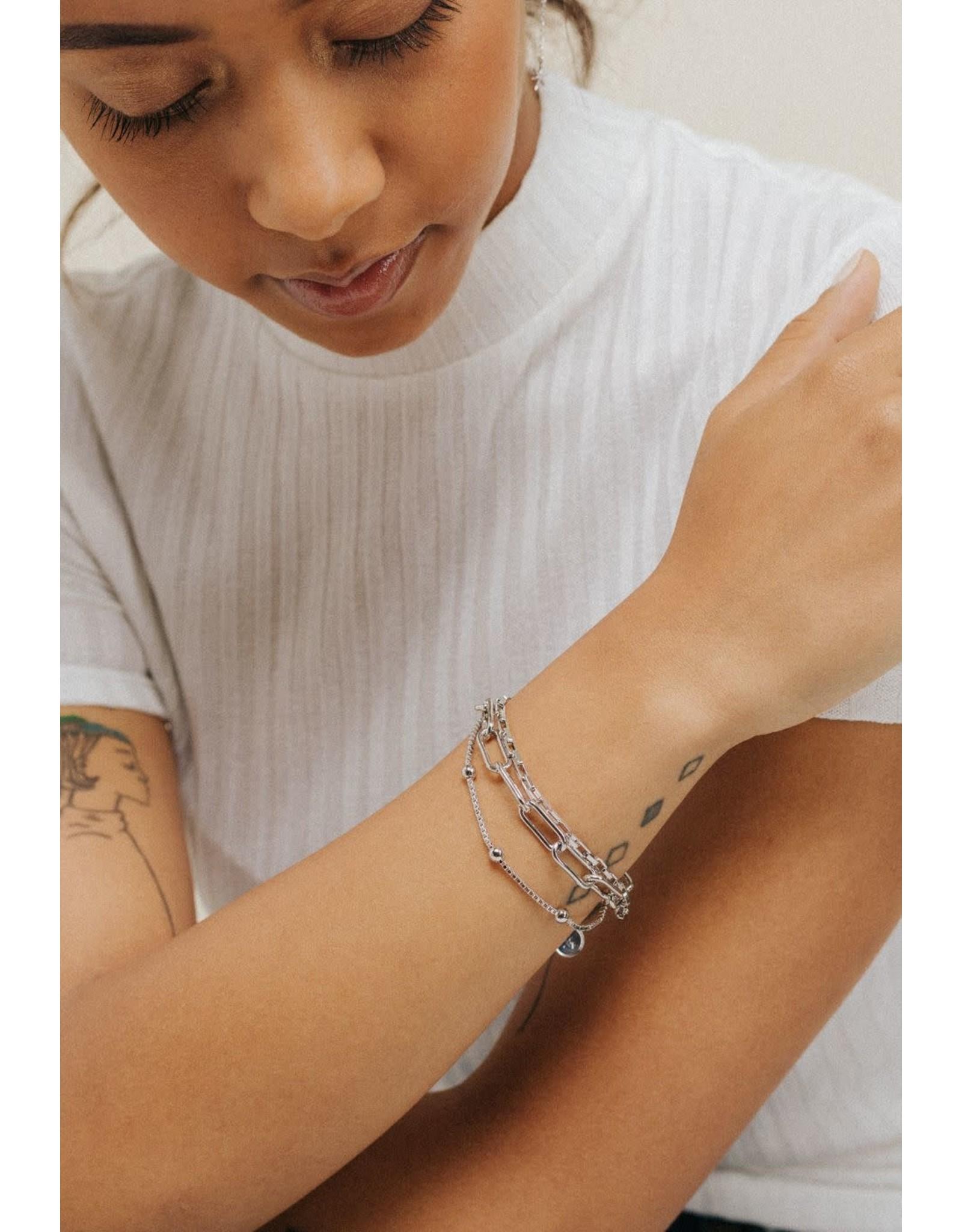 Lover's Tempo Shay Bracelet - Silver