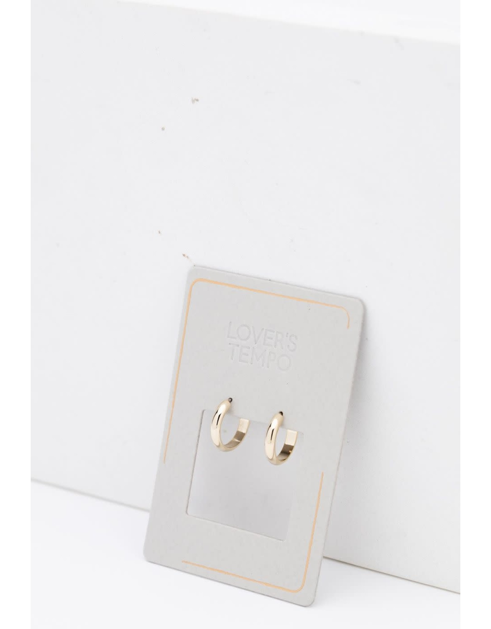 Lover's Tempo Silvia Hoop Earrings - Gold