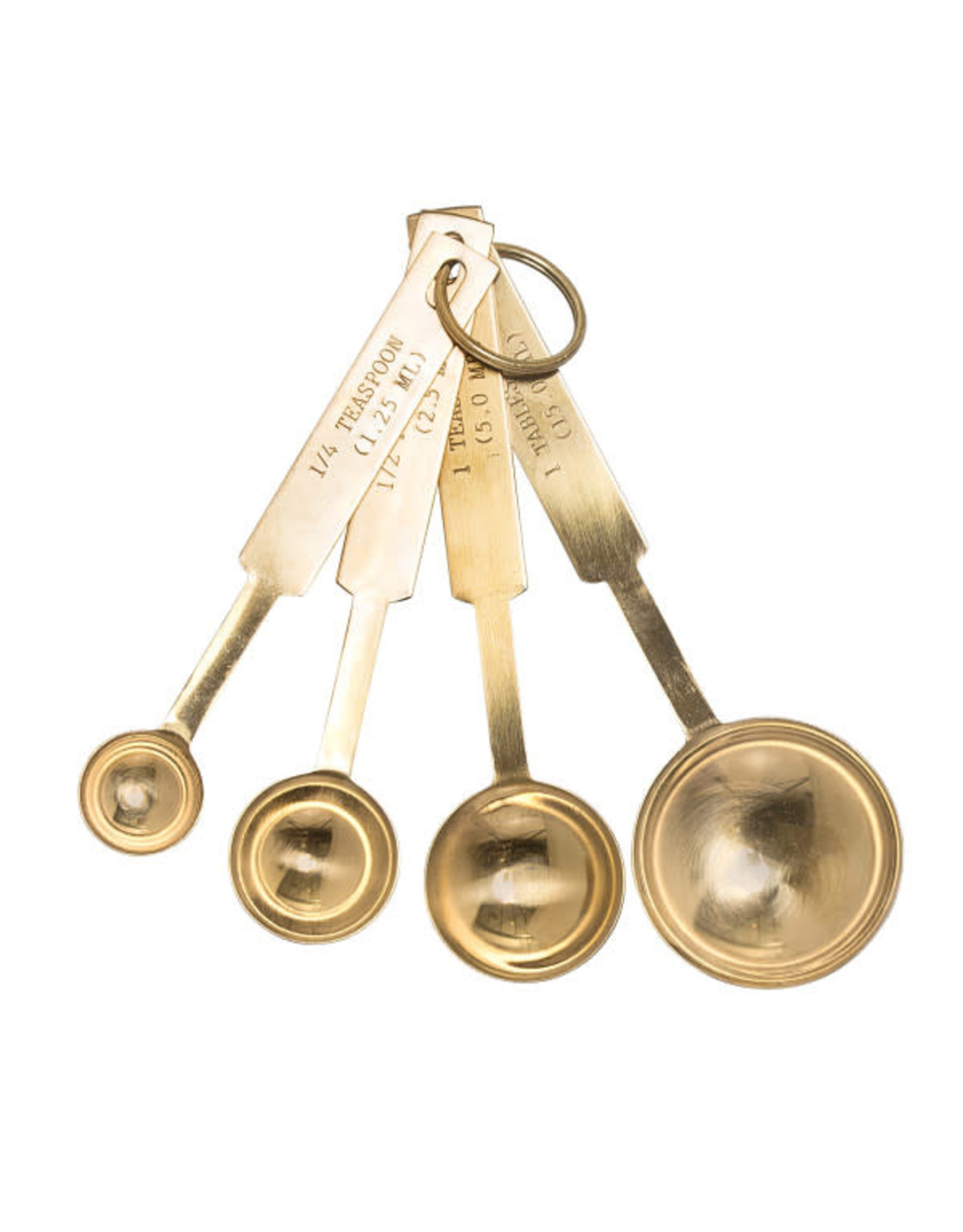 Stainless Steel Measuring Spoons Set Gold Finish