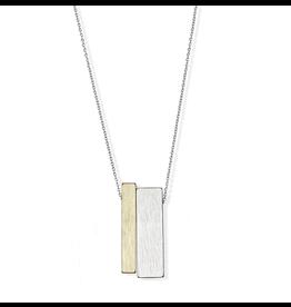 jj + rr Brushed 2-Tone Necklace