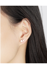 jj + rr Triple Star Earrings
