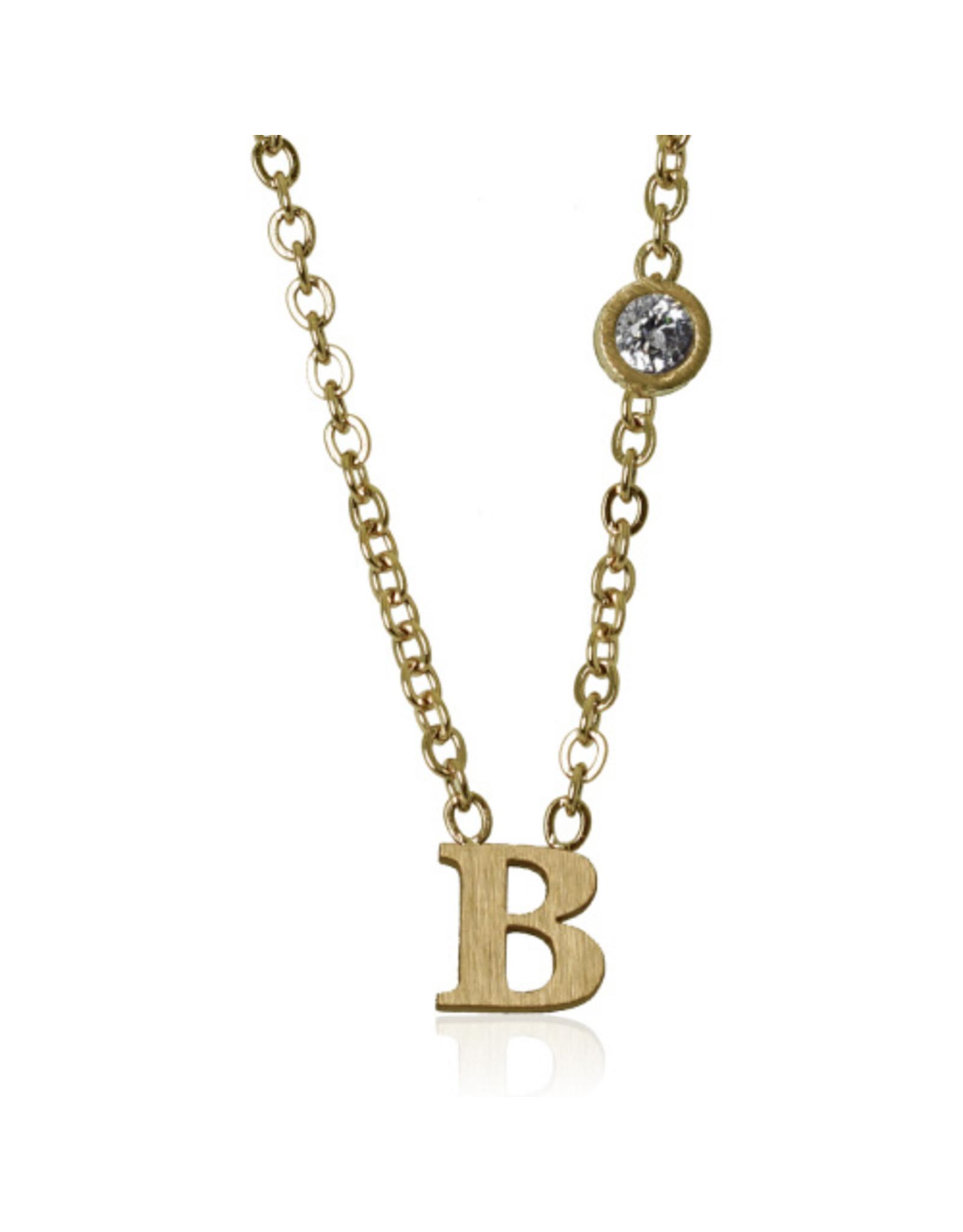 jj + rr  Floating Letter Necklace A to M -