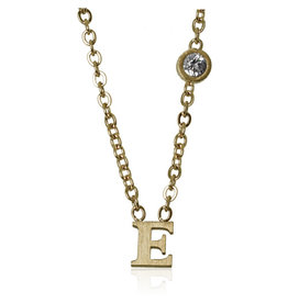 jj + rr  Letter Necklace A to M -