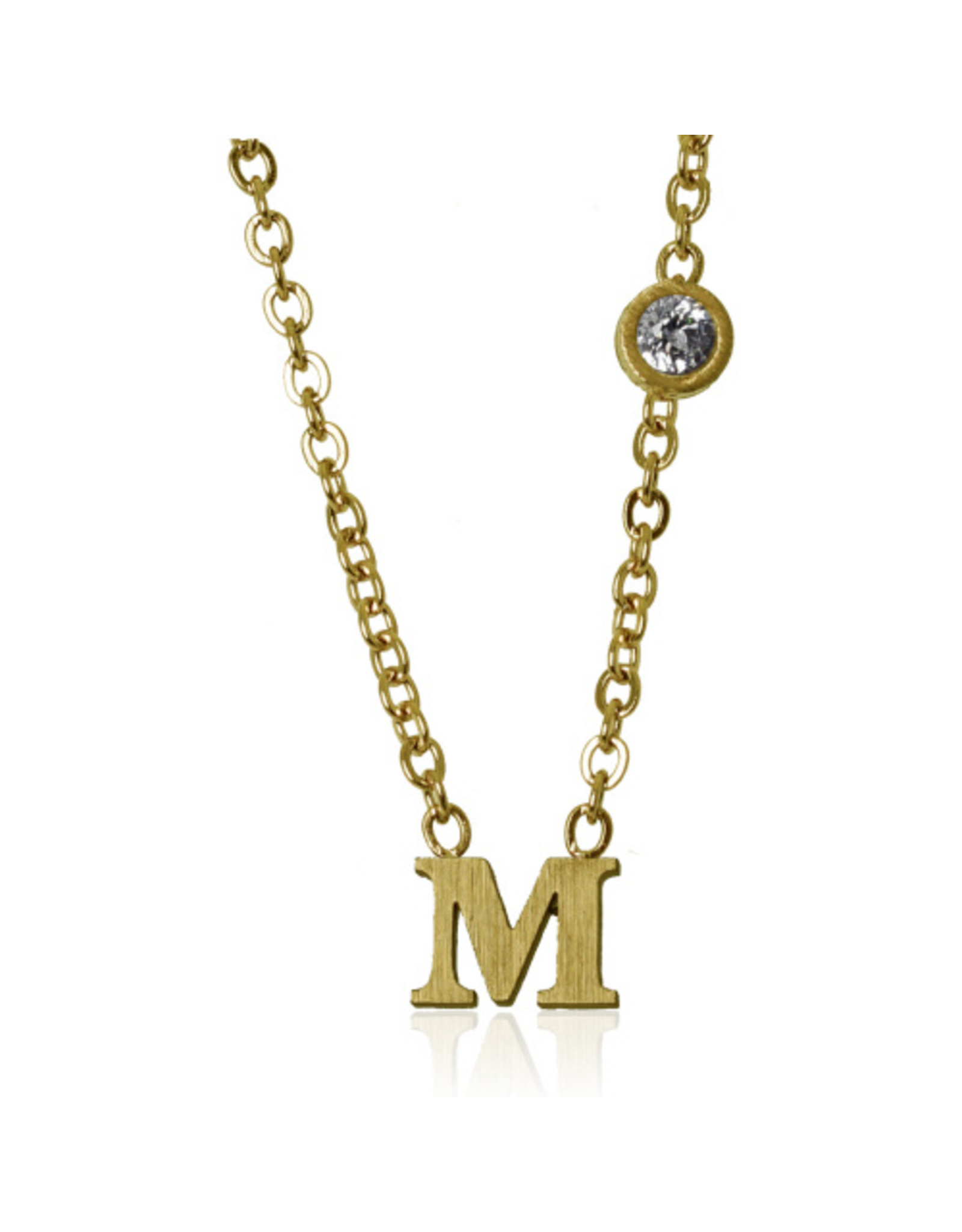 jj + rr   Letter Necklace A to M -
