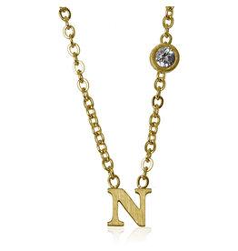 jj + rr  Floating Letter Necklace N to Z -