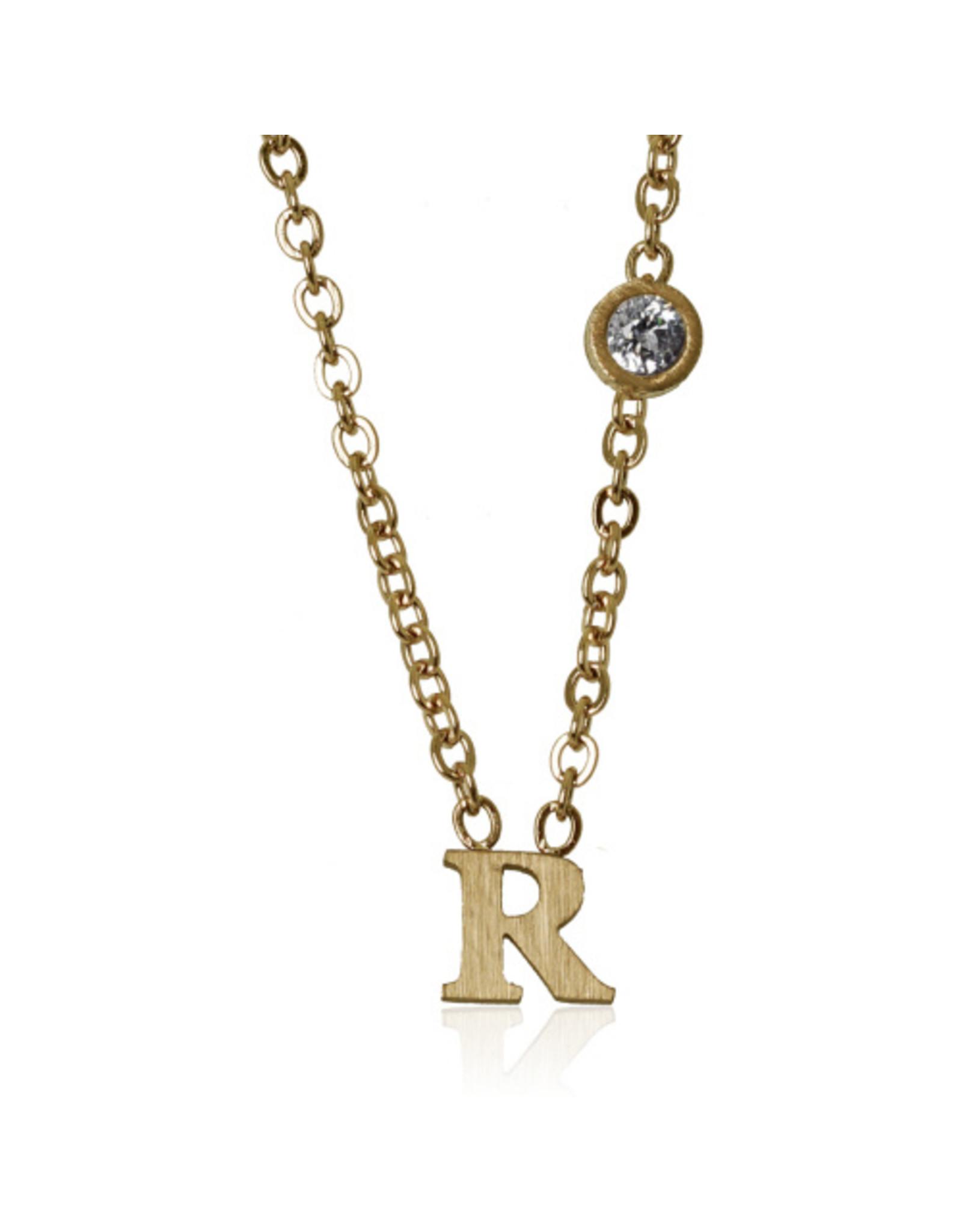 jj + rr Letter Necklace N to Z -