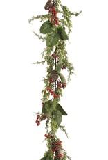 "Garland w Cedar & Red Berries 60"""