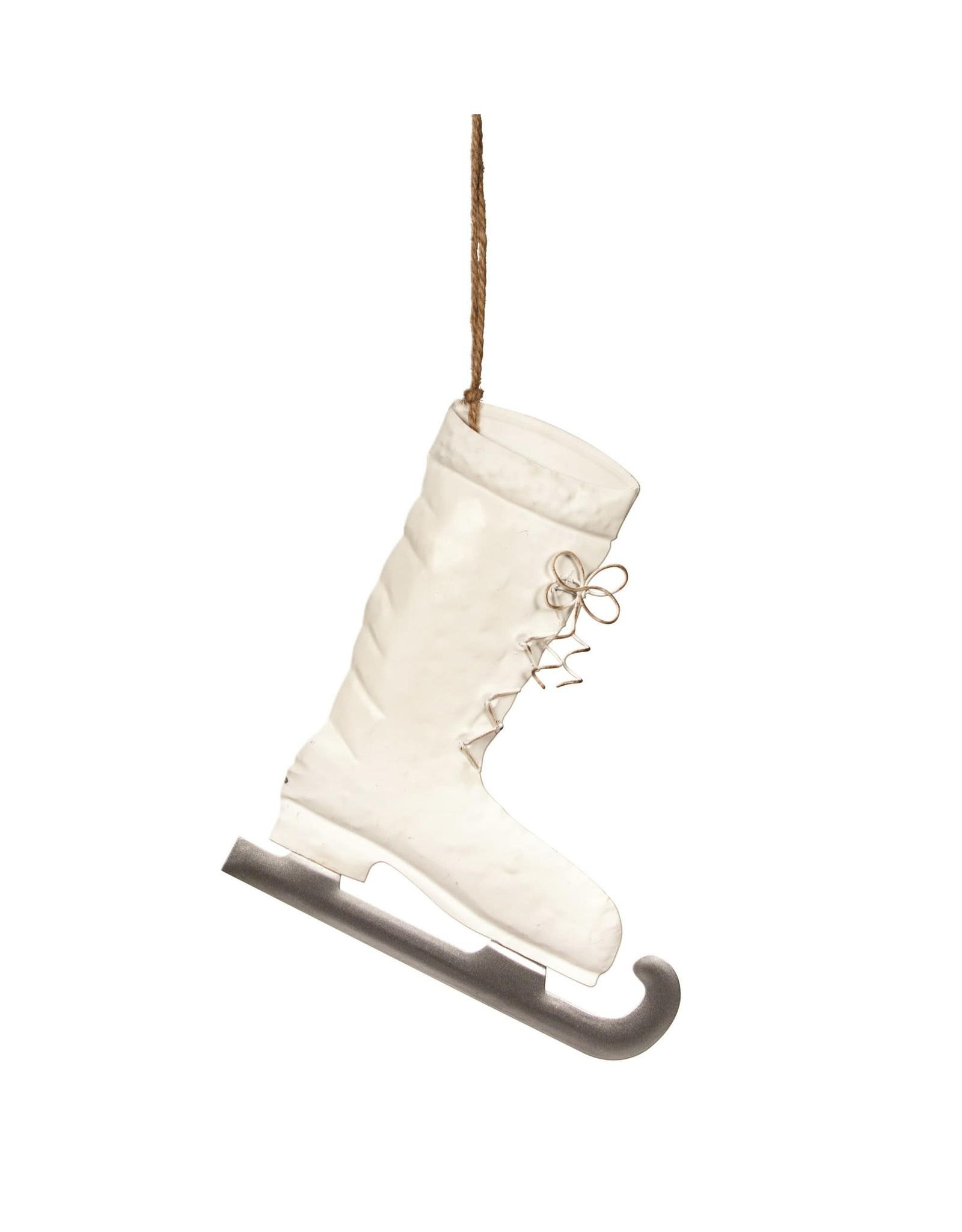 White Tin Skate Decor