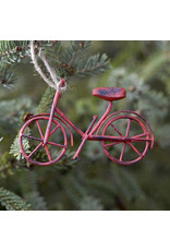 Red Bicycle Ornament 4""