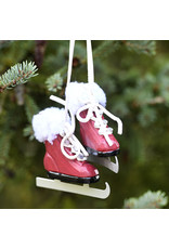 Red Wooden Skates Ornament