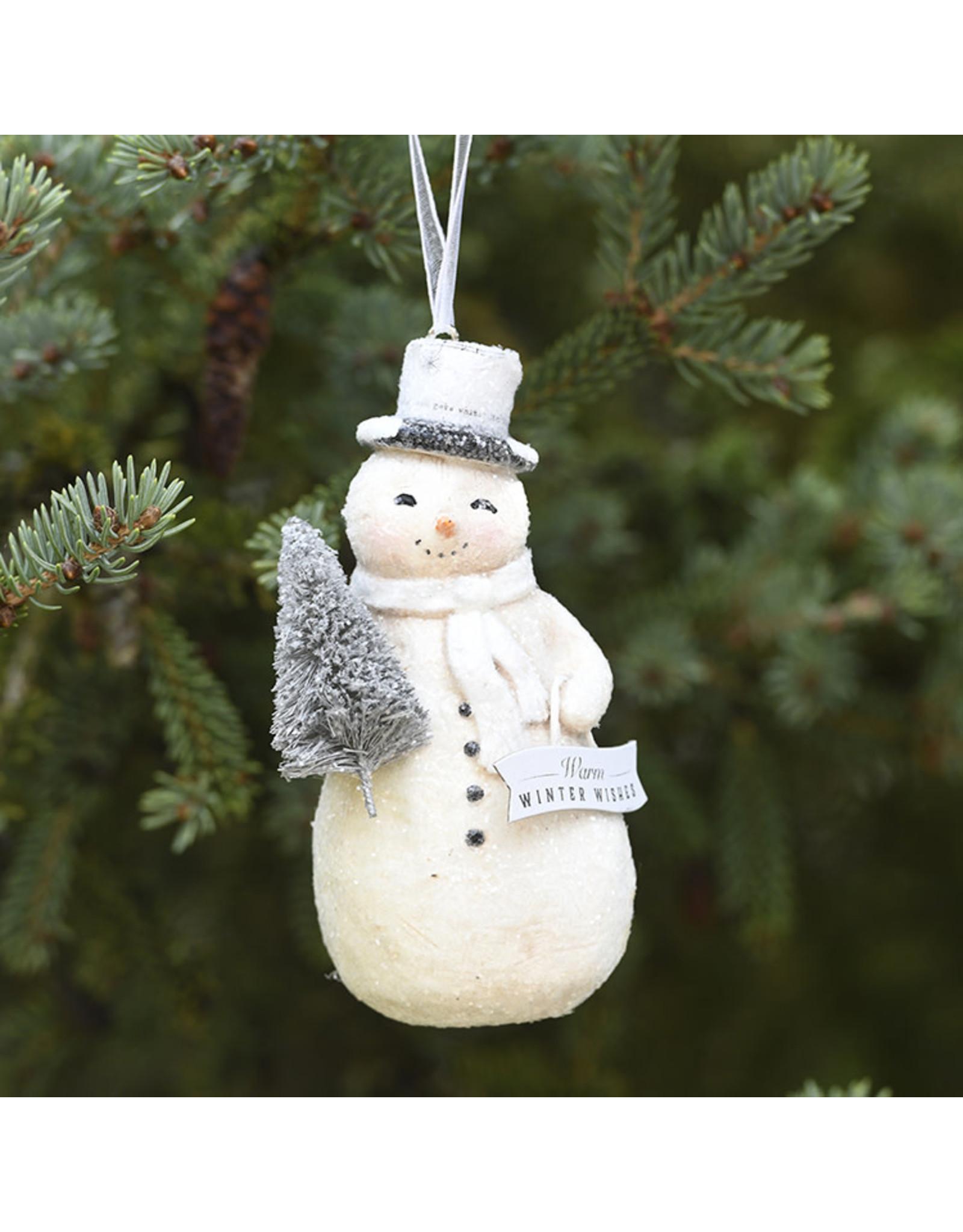 Demdaco Winter Snowman Ornament