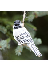 Wooden Chickadee Orn