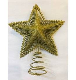 "Gold Star Tree Topper 9"""