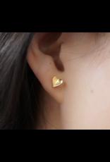 jj + rr Folded Heart Earrings