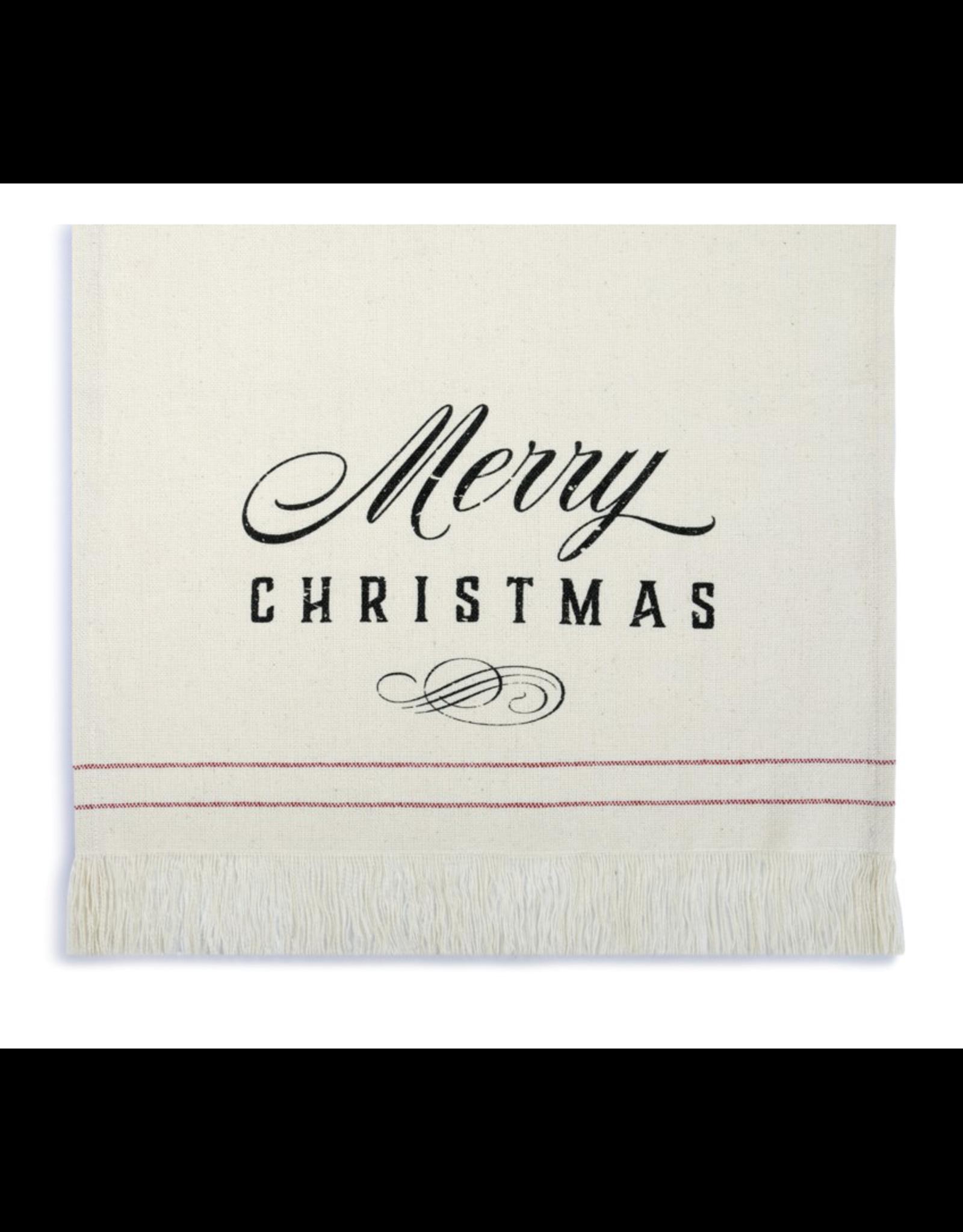 White Merry Christmas Runner