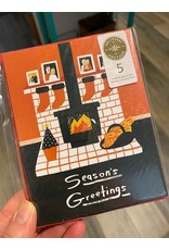 Fireplace and Stockings Cello 5pack