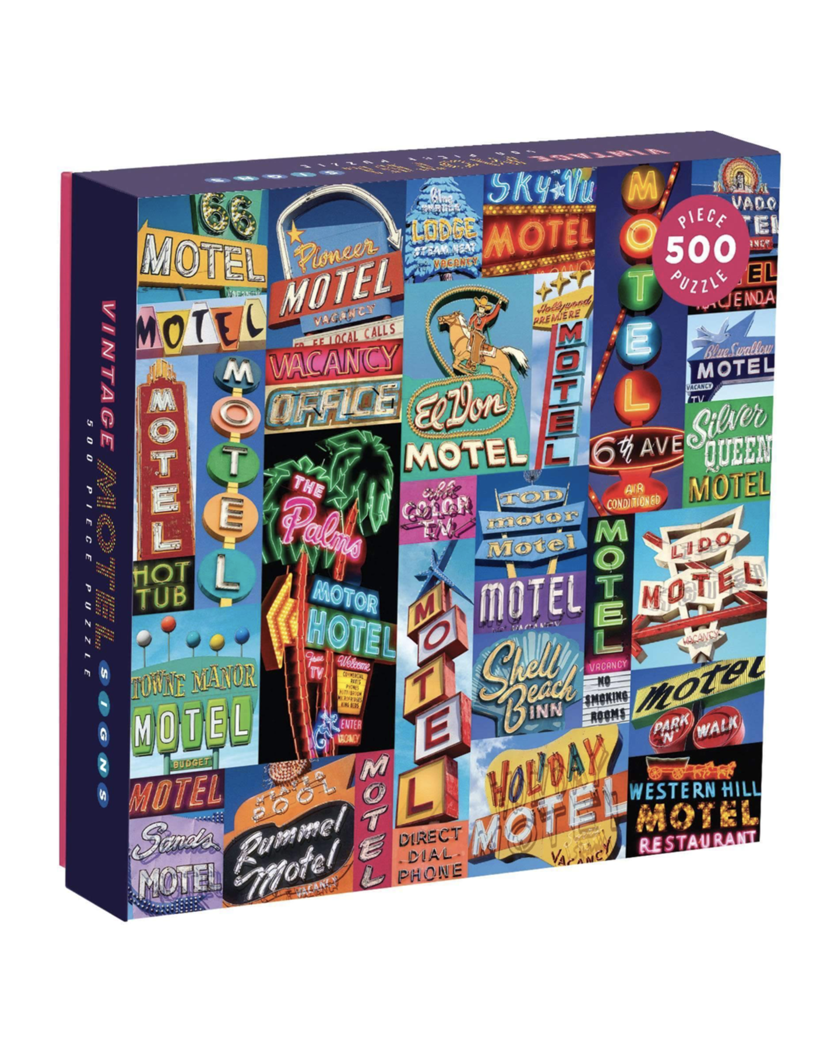 Vintage Motel Signs 500 Pc Puzzle