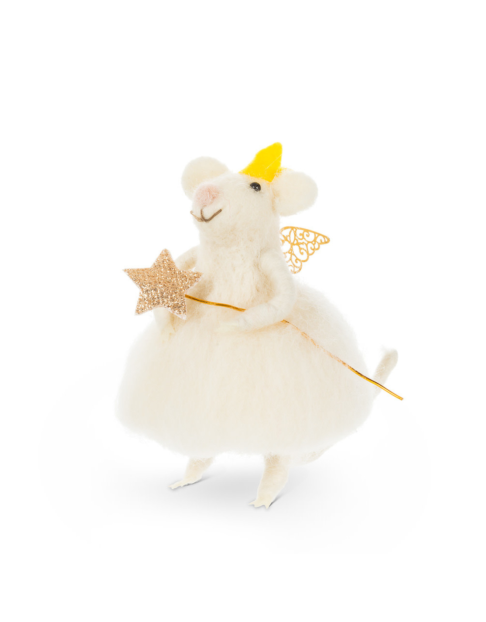 Fairy Mouse w Wand Ornament