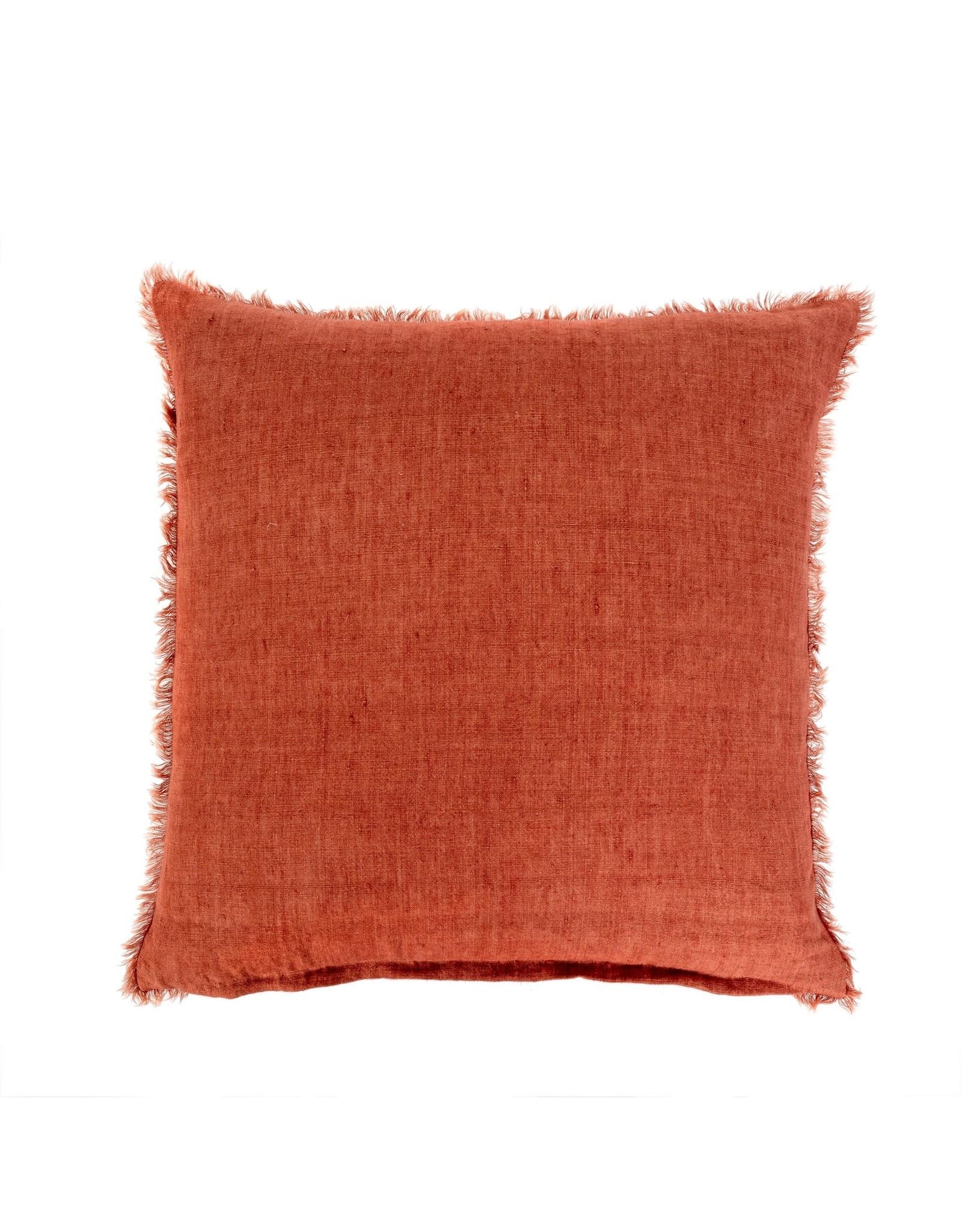 24x24 Lina Linen Cushion Rust
