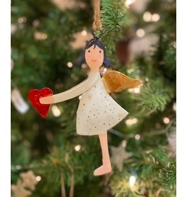 Paperdoll Angel Ornament with Heart