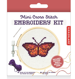 Mini Cross-Stitch Embroidery Kit - Butterfly