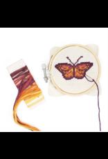 Mini Cross-Stitch Embroidery Kit - Butterfly