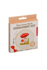 Mini Cross-Stitch Embroidery Kit - Mushroom