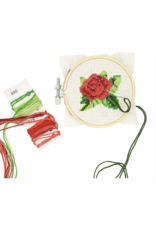 Mini Cross-Stitch Embroidery Kit - Rose