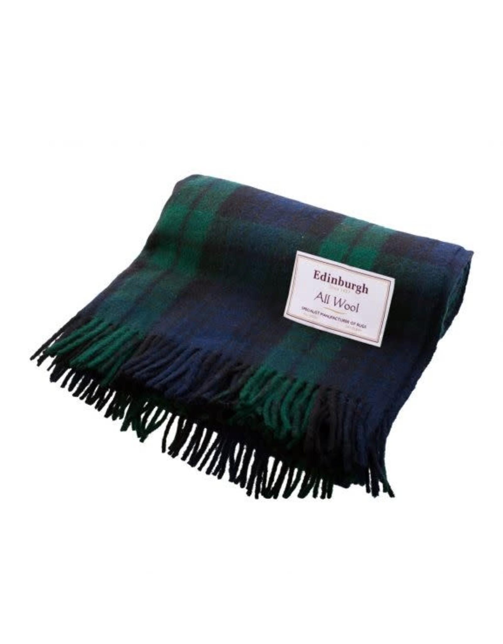 Highland Wool Throw - Black Watch