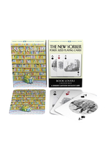 New York Puzzle Co Book Lover Cartoons Playing Cards