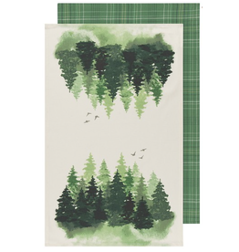Woods Tea Towels -  set of 2