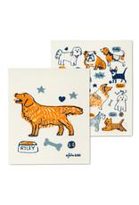 Set of 2 Dishcloths Dogs & Names