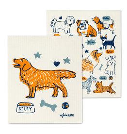 Dogs & Names Swedish Dishcloths S/2