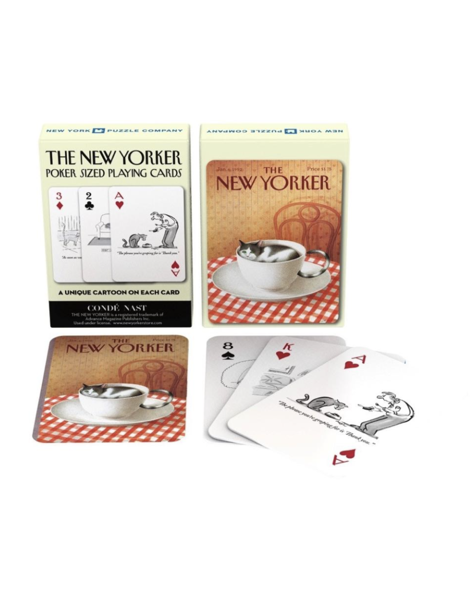 New York Puzzle Co Cat Cartoon Playing Cards