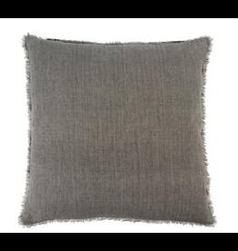 Lina Linen Cushion, Warm Grey 24x24