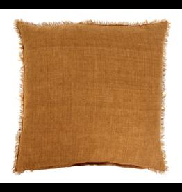 Lina Linen Cushion - Gold 24x24