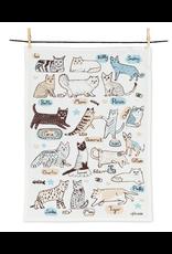Cats with Names Tea Towel