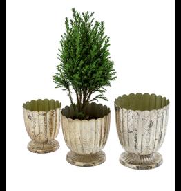 Floralis Metal mini Urn - Set of 3